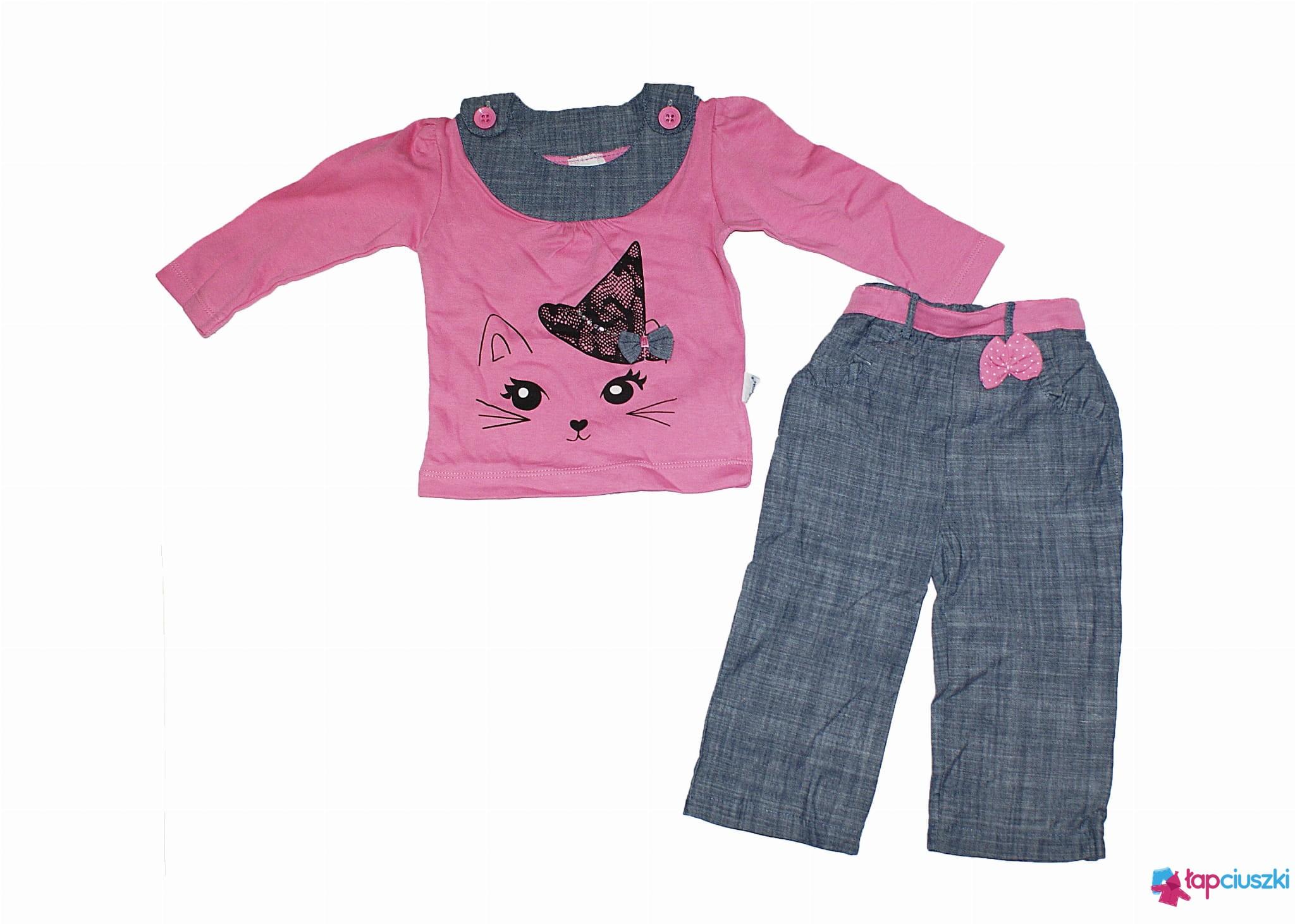 ff672e6211 Komplet 2-częściowydla dziewczynki- różowy kotek( rozm.98) lapciuszki.pl