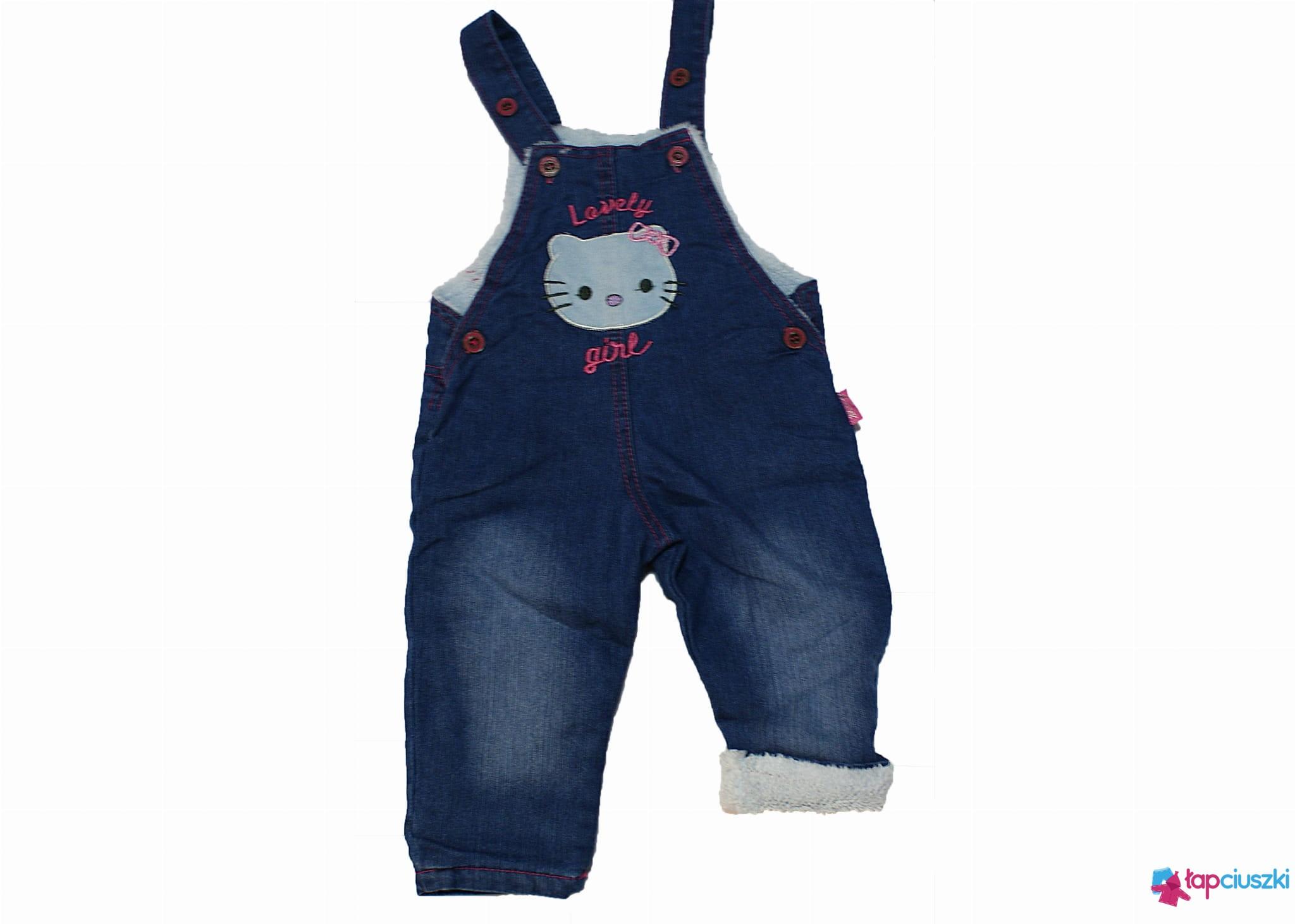 Spodnie ocieplane dla dziewczynki ogrodniczki rozm.(86 92 98)